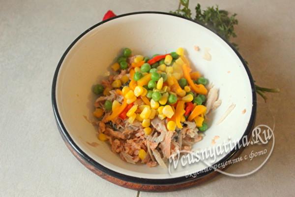 мясо рыбы и овощи
