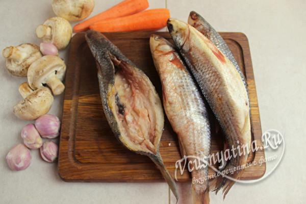 выпотрошить рыбу