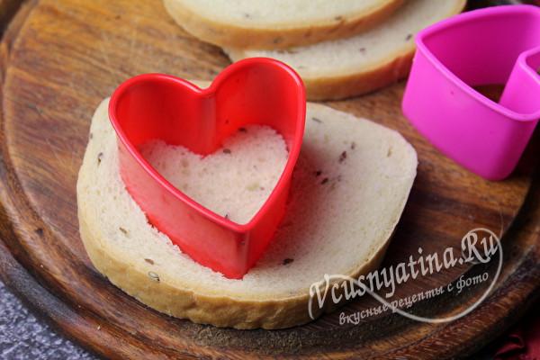 вырезать красиво хлеб