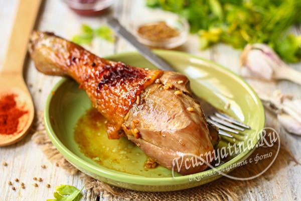 Голени индейки запеченные в духовке - 6 вкусных и быстрых рецептов