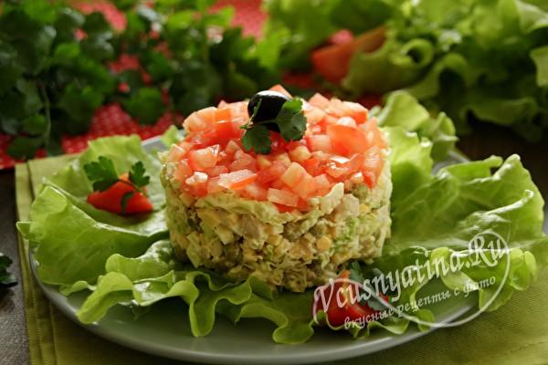 салат с помидорами и капусто