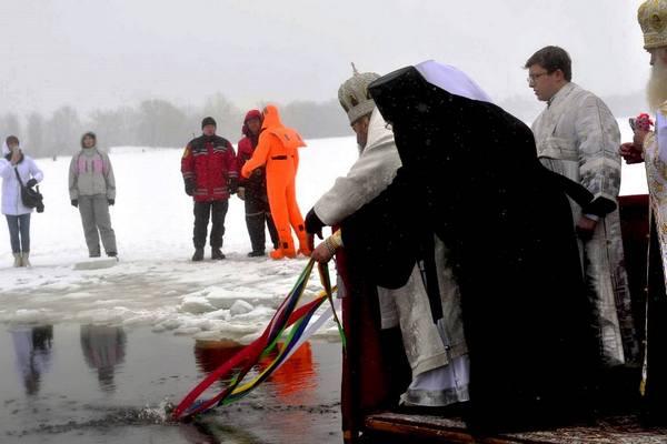 освящение полыньи на Крещение