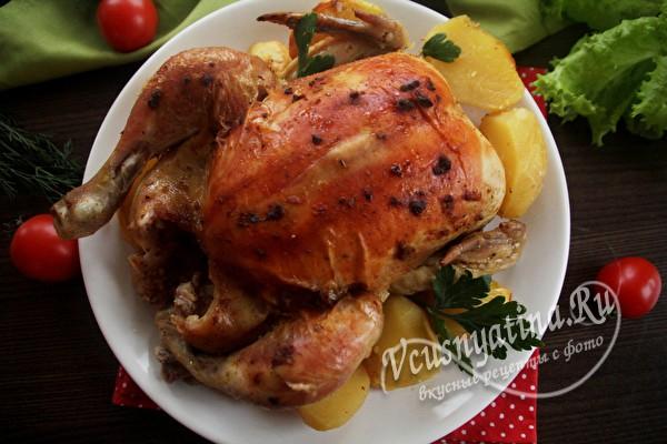 запеченная курица в рукаве