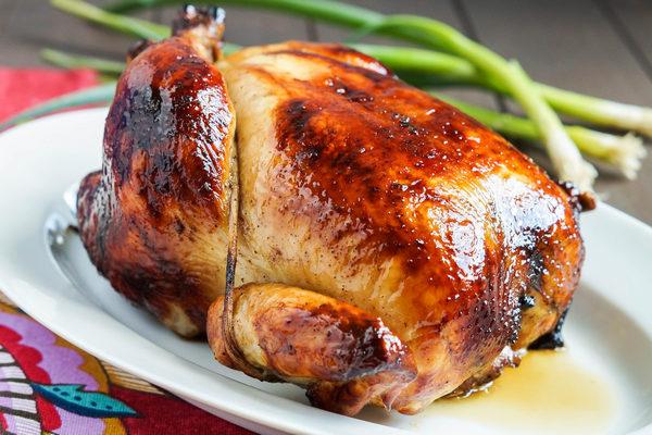 курица с медом и горчицей запеченная