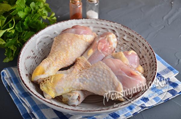 размороженные куриные голени