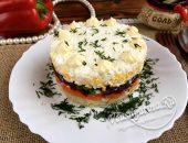 Салат «Невеста» с сыром и свеклой