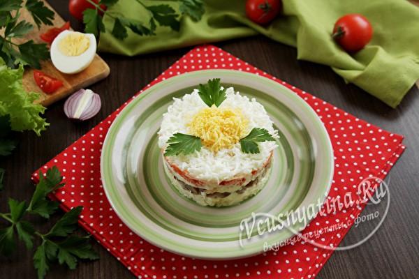 салат «Баронесса» готов