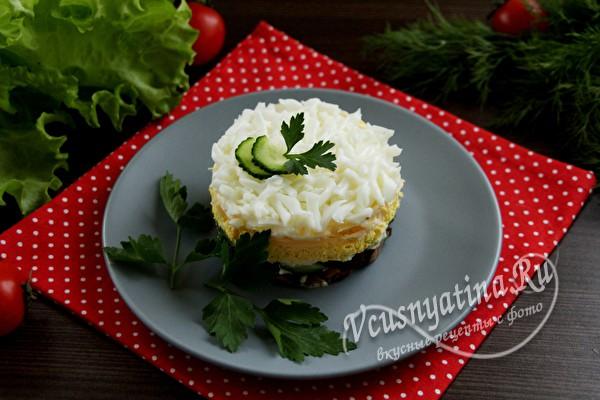 украсить салат зеленью