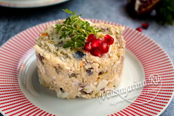 сытный салат с скускусом