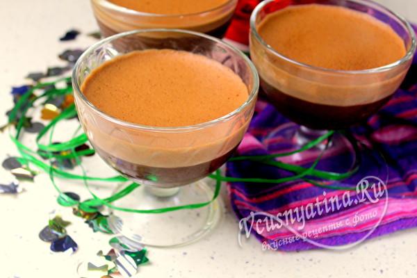 шоколадный десерт готов
