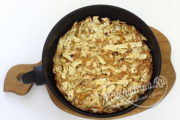 готовый пирог из лаваша