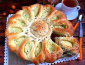 """Дрожжевой пирог с картошкой """"Солнце"""""""