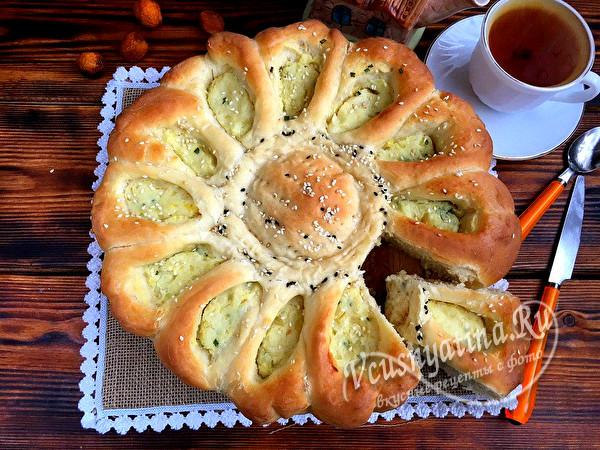 """картофельный пирог """"Солнце"""""""