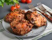 Куриные бедра с медом и орехами