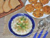Постный рисовый суп и котлеты из риса