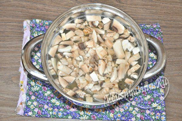 добавить грибы