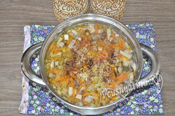 сваренный суп
