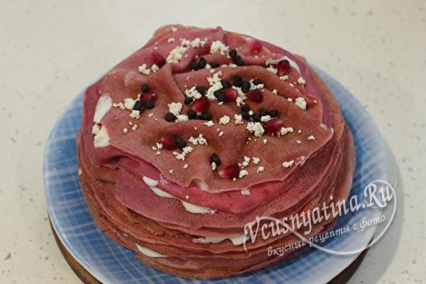 полить торт шоколадным составом