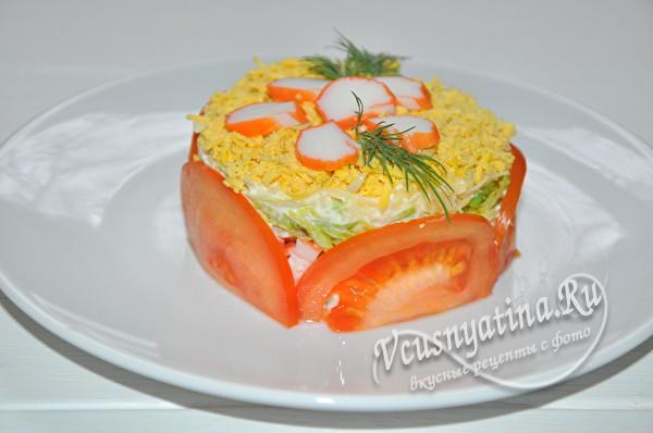 украсить помидорами и зеленью
