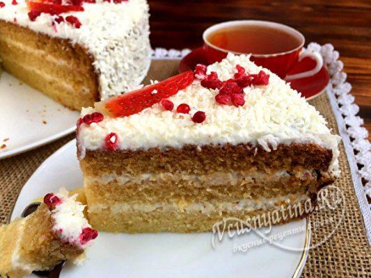 кусочек домашнего торта
