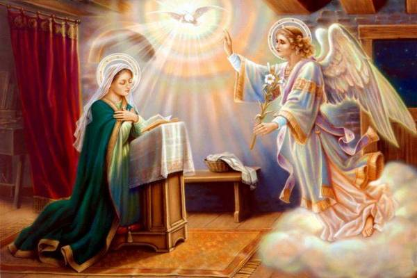 Ангел с девой Марией