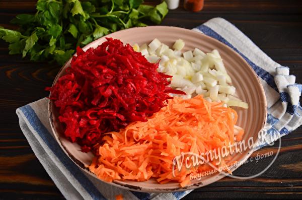 подготовьте овощи
