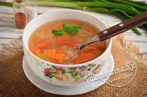 суп с овощами