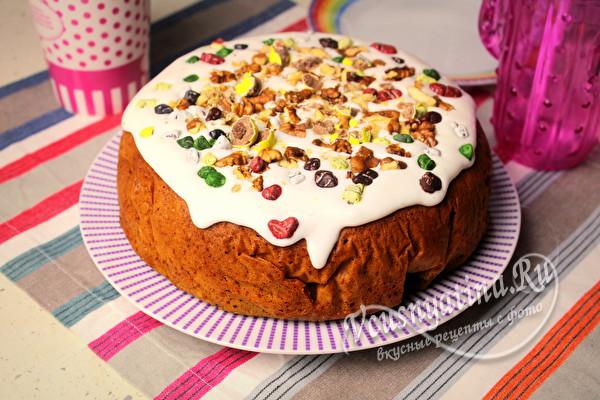 можно сделать в виде торта