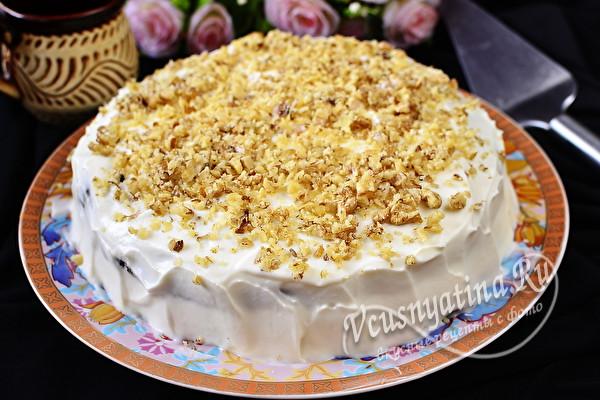 готовый бисквитный торт