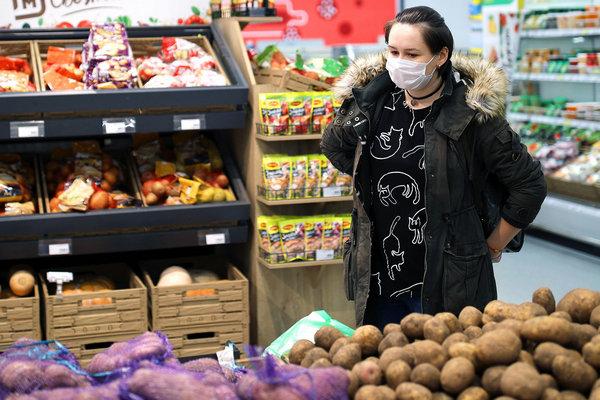 покупка овощей и фруктов в карантин
