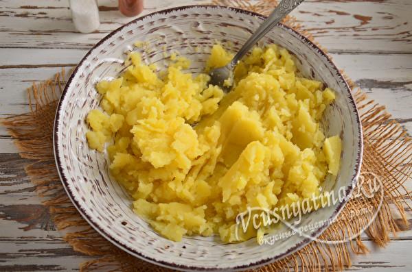 картофель потолочь