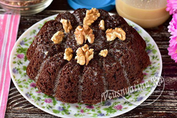 кофейный пирог с орешками