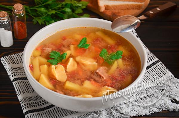 простой мясной суп