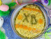 """Праздничный салат """"Пасхальное яйцо"""" с консервой"""