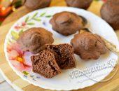 Шоколадные кексы без яиц на кефире