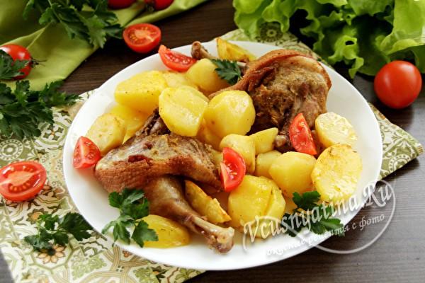 Утиные ножки с картошкой