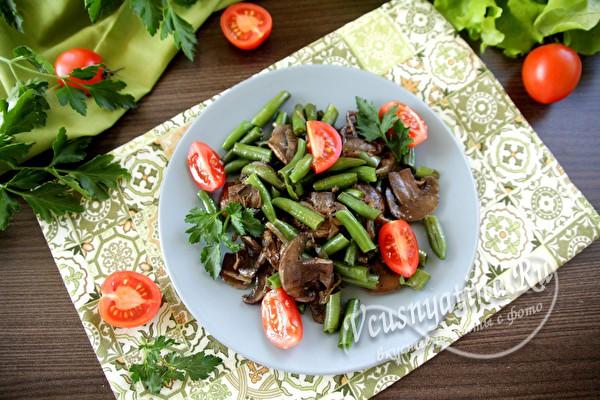 овощное блюдо с фасолью