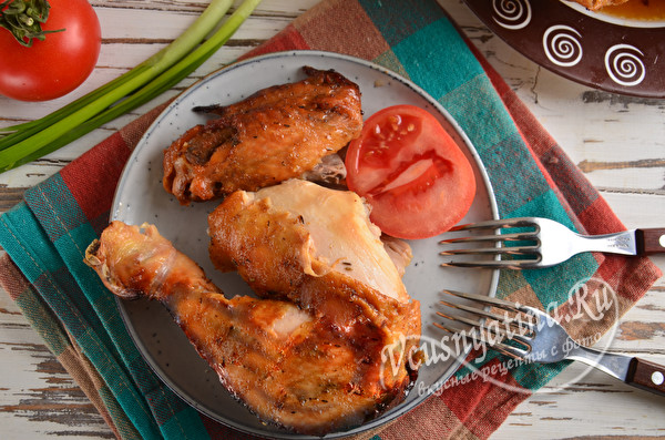 курина ножка, запеченная с медом