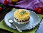 Классический салат Мимоза с сайрой