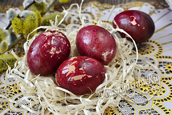 Мраморные яйца без зеленки