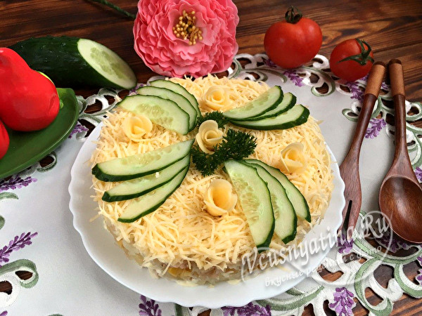 Салат Невеста - 8 обалденно вкусных и красивых рецептов