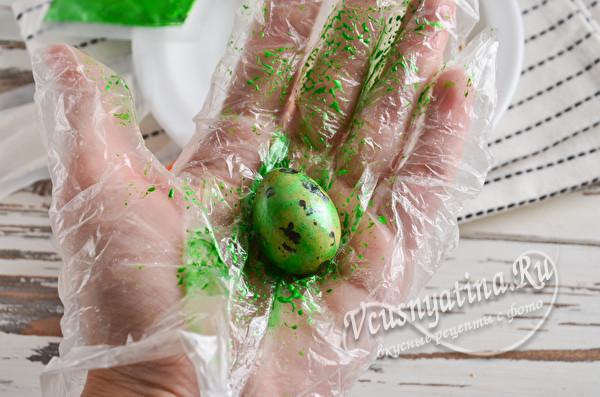 окраска в зеленый цвет