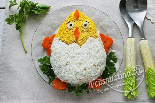 украсить в виде цыпленка