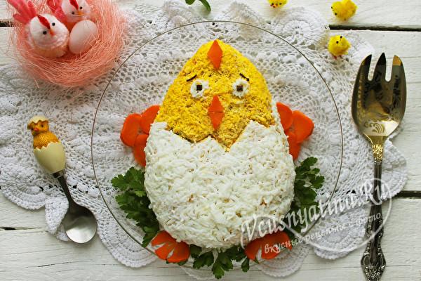 вкусный пасхальный салат