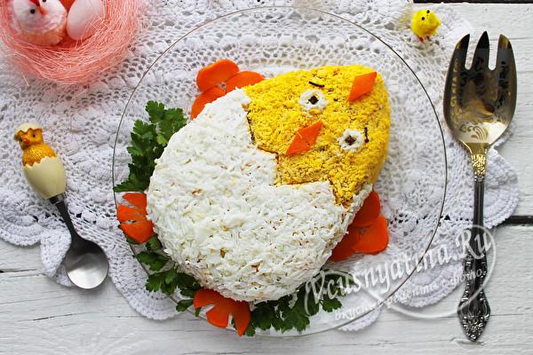 """Салат """"Пасхальный цыпленок"""""""