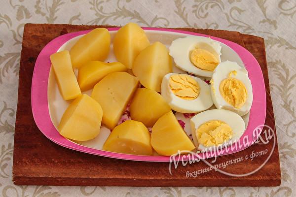 картофель и яйца