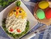 Пасхальный салат «Цыпленок»