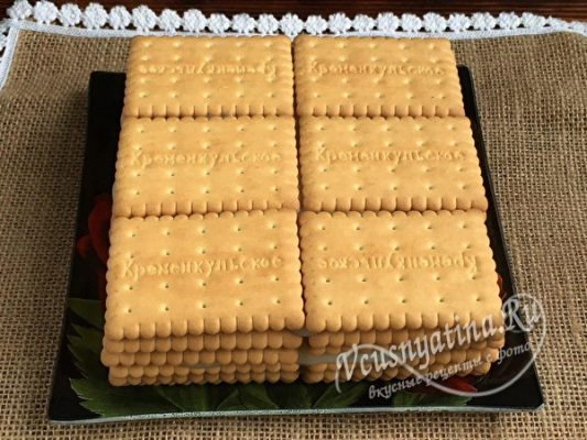 выложить печенье слоями