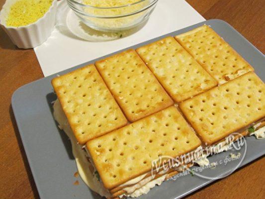 слой печенья