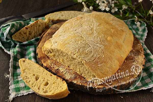 Чиабатта - хлеб без замеса, который получается у всех